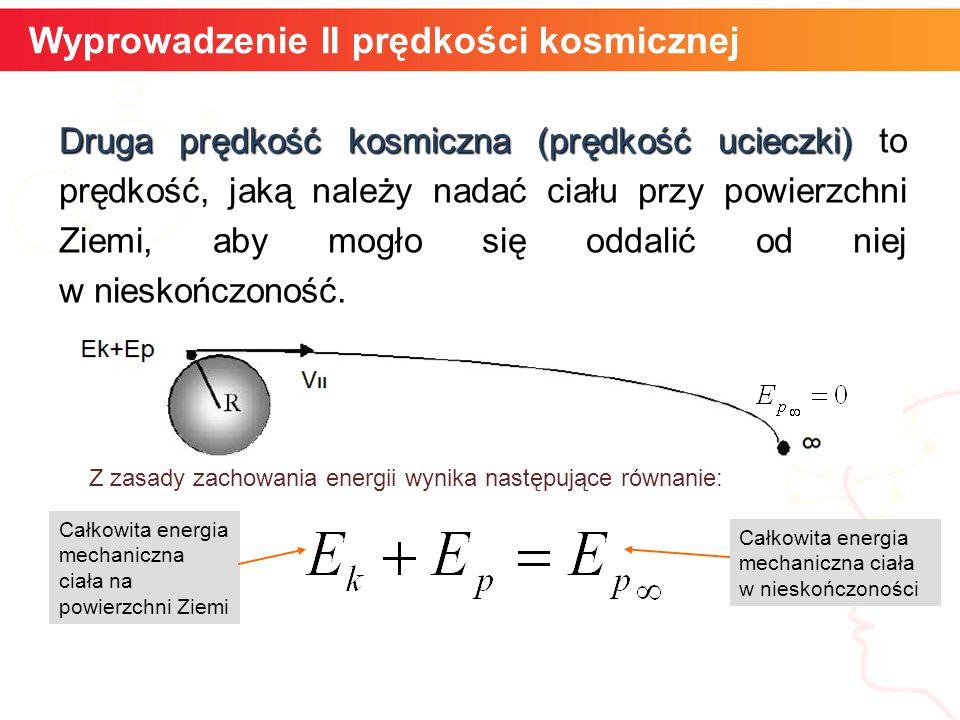Wyprowadzenie II prędkości kosmicznej
