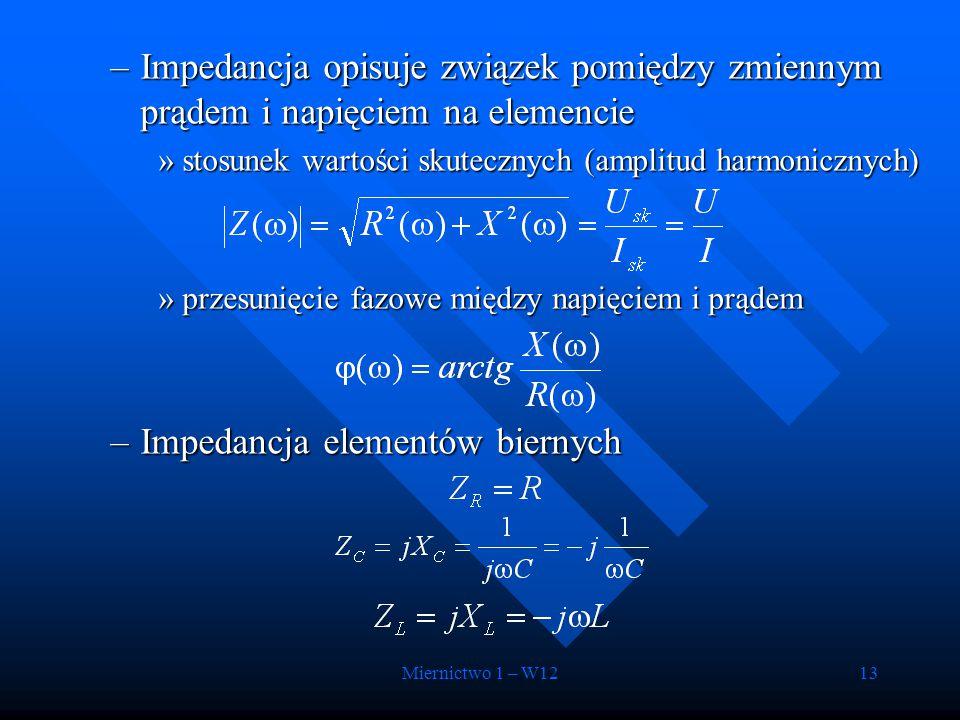 Impedancja elementów biernych