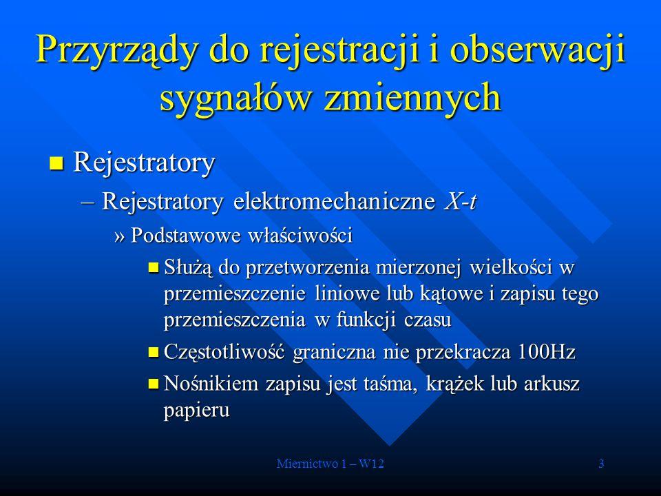 Przyrządy do rejestracji i obserwacji sygnałów zmiennych