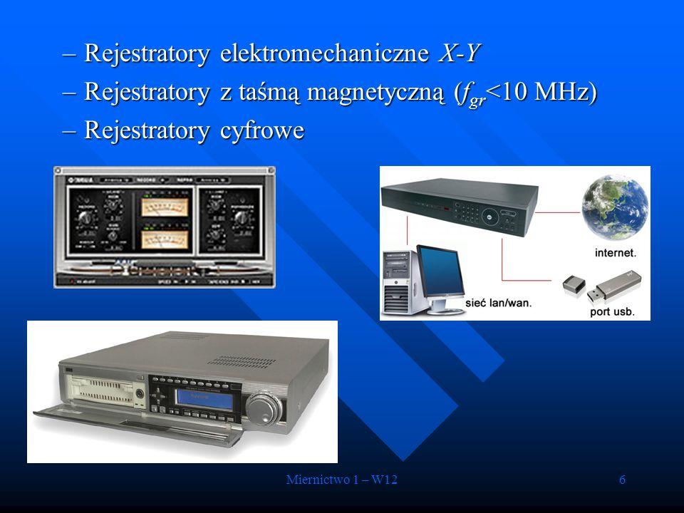 Rejestratory elektromechaniczne X-Y
