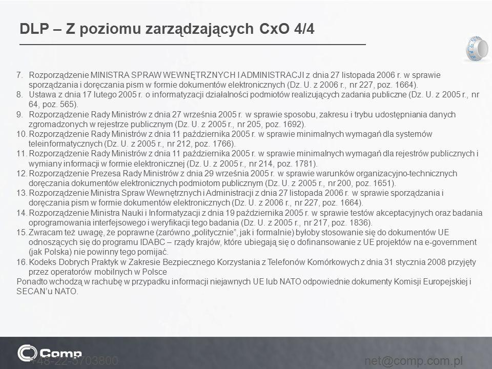 DLP – Z poziomu zarządzających CxO 4/4