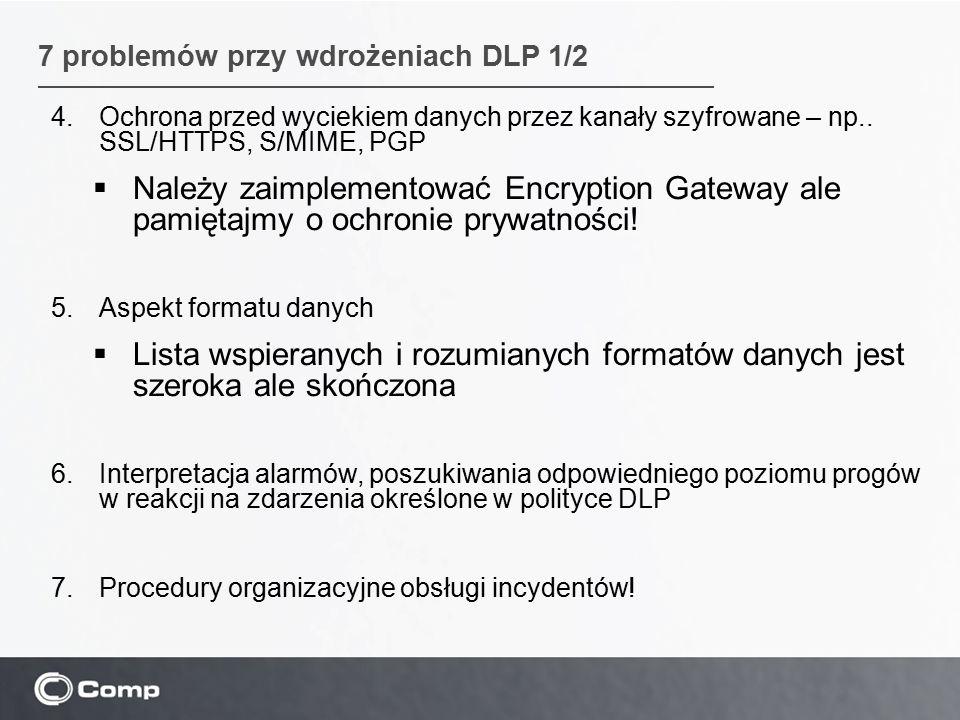 7 problemów przy wdrożeniach DLP 1/2