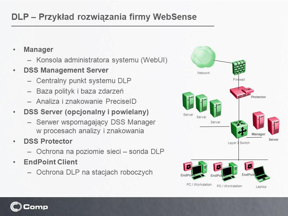 DLP – Przykład rozwiązania firmy WebSense
