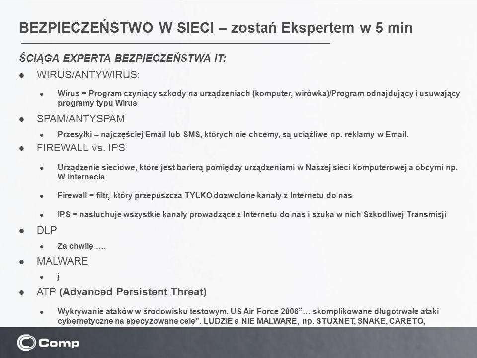 BEZPIECZEŃSTWO W SIECI – zostań Ekspertem w 5 min