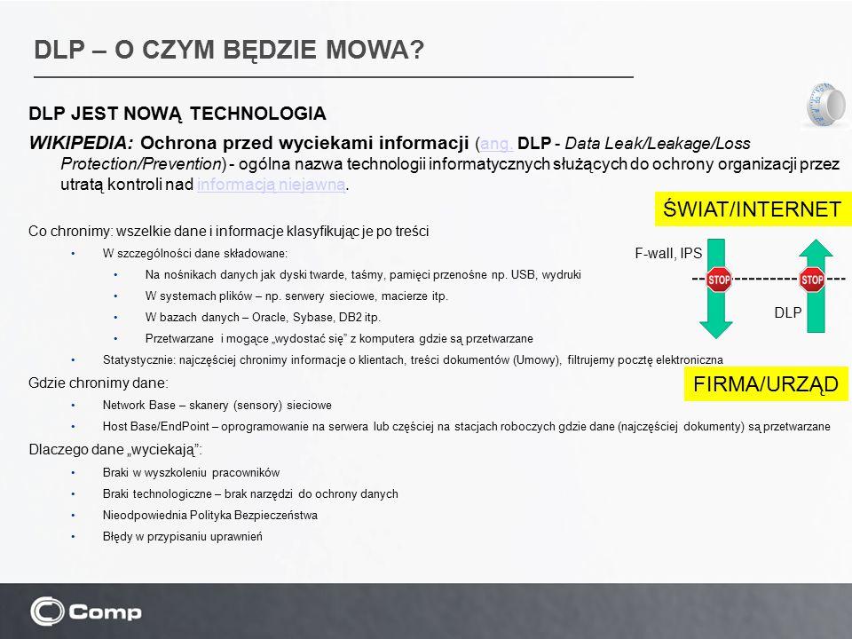 DLP – O CZYM BĘDZIE MOWA ŚWIAT/INTERNET FIRMA/URZĄD