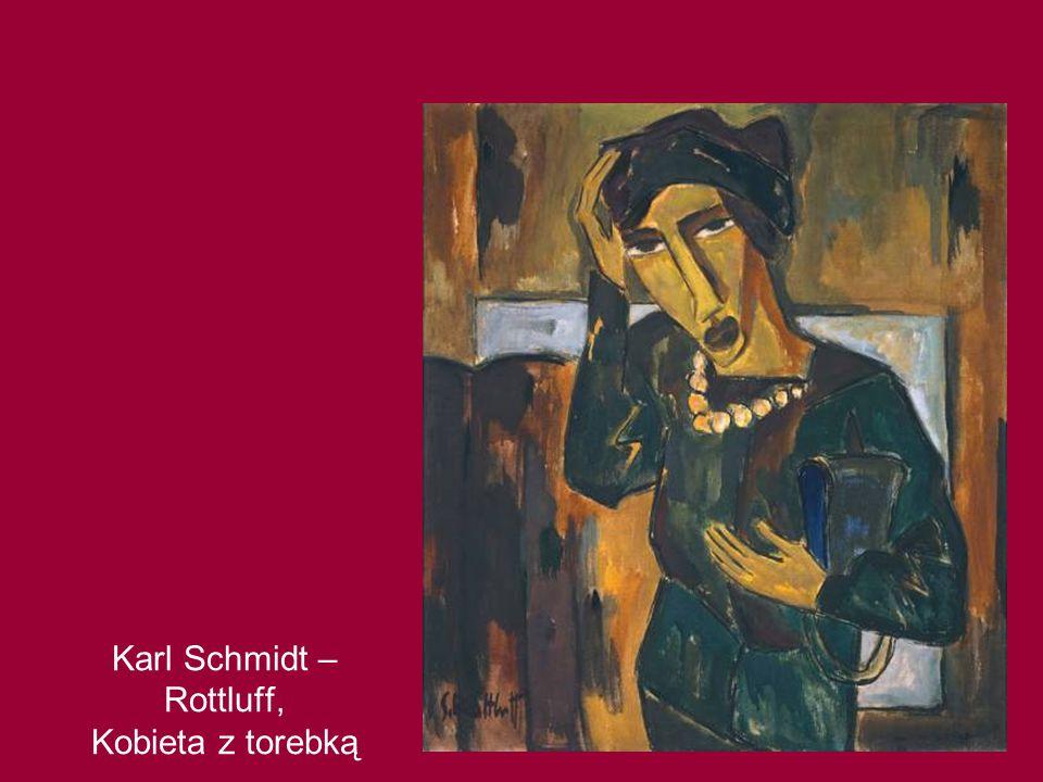 Karl Schmidt – Rottluff, Kobieta z torebką