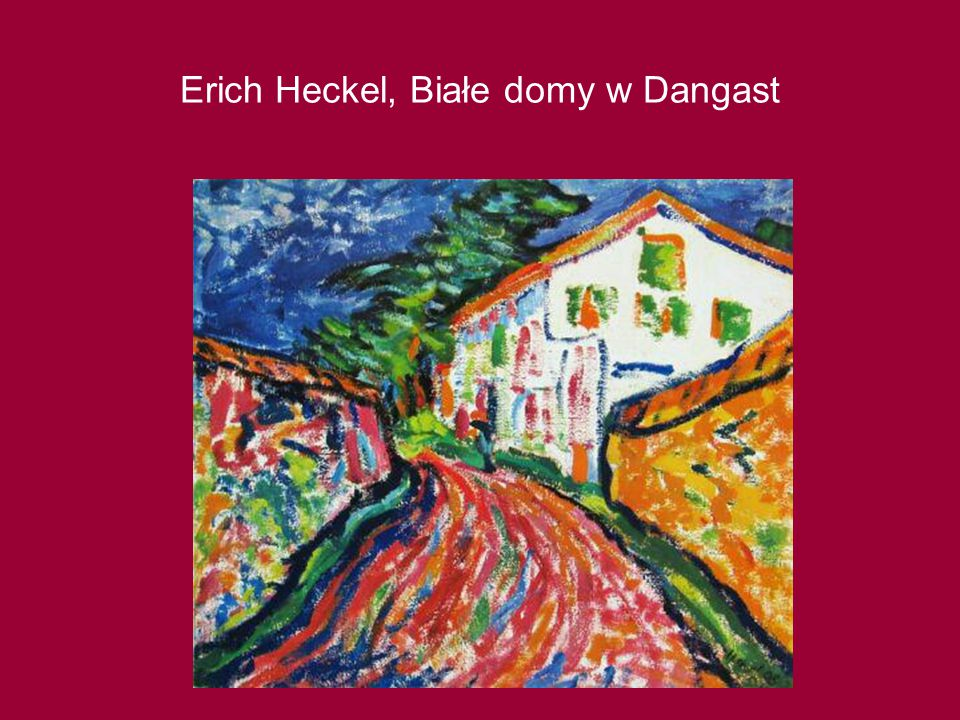 Erich Heckel, Białe domy w Dangast
