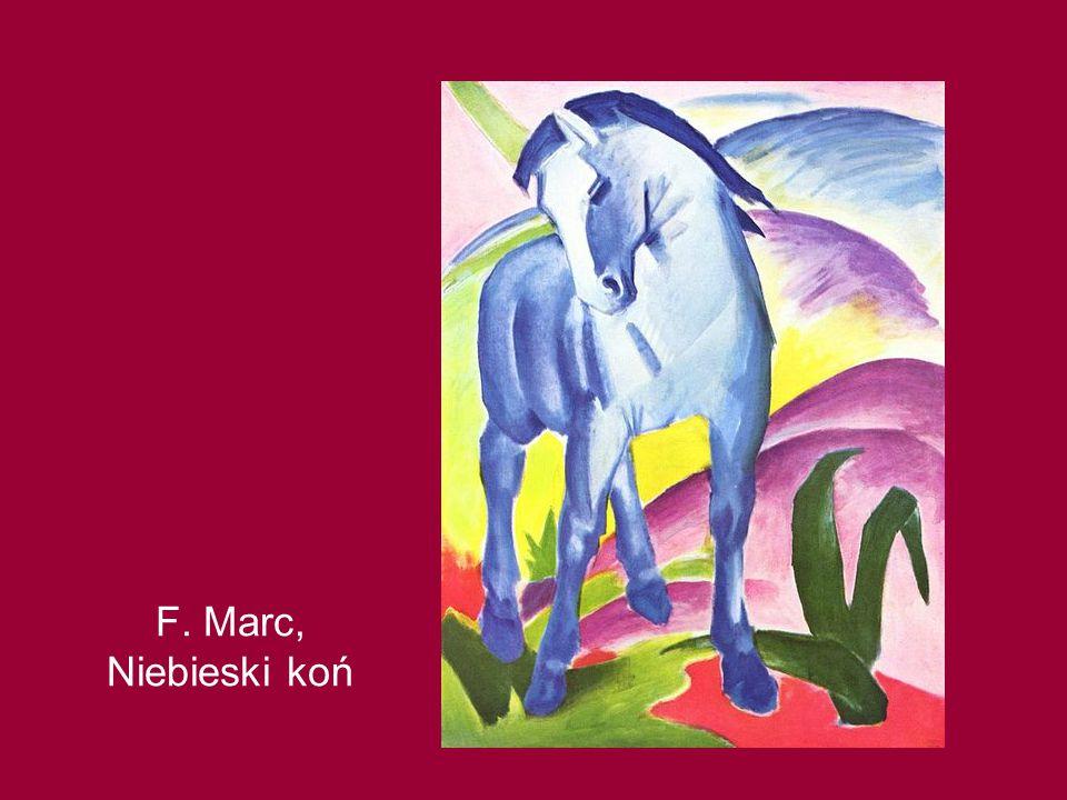 F. Marc, Niebieski koń