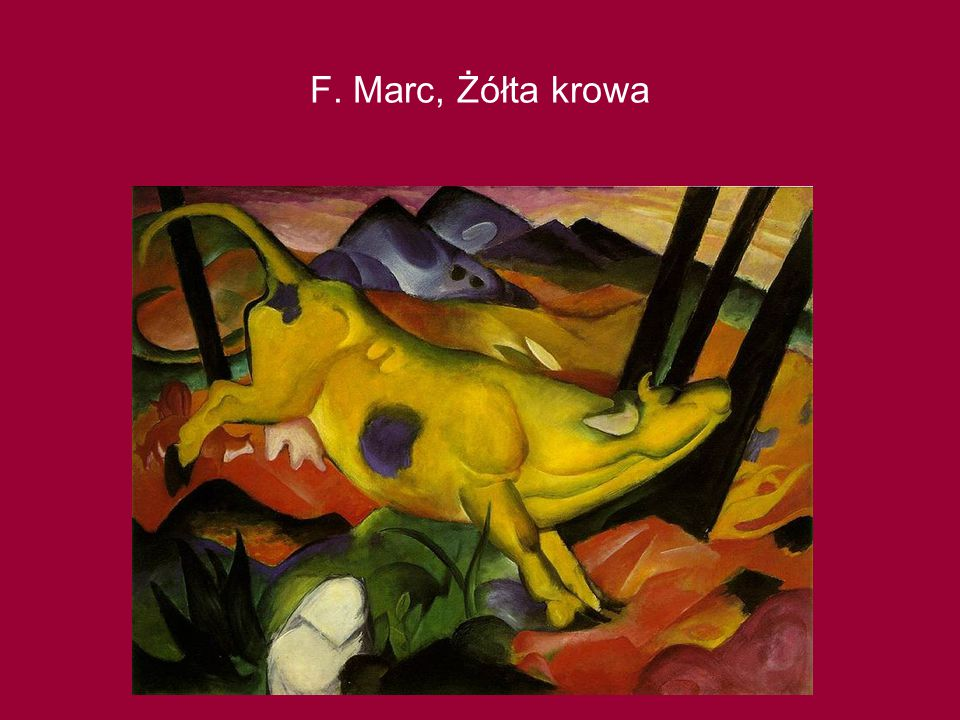 F. Marc, Żółta krowa