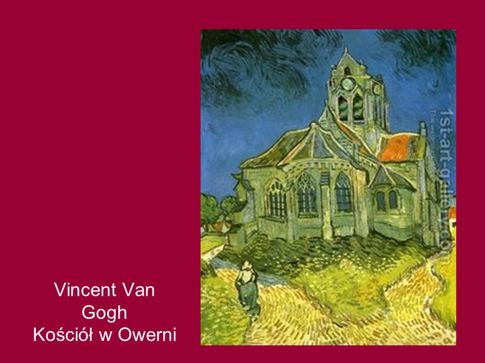 Vincent Van Gogh Kościół w Owerni