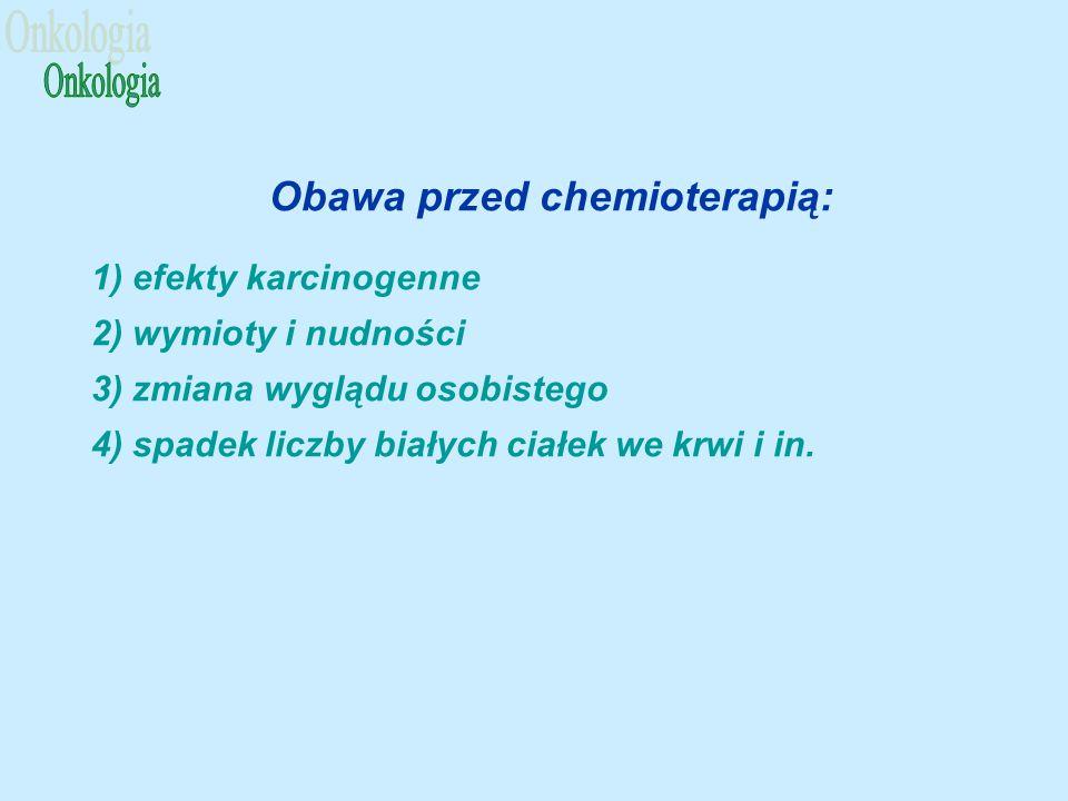 Obawa przed chemioterapią: