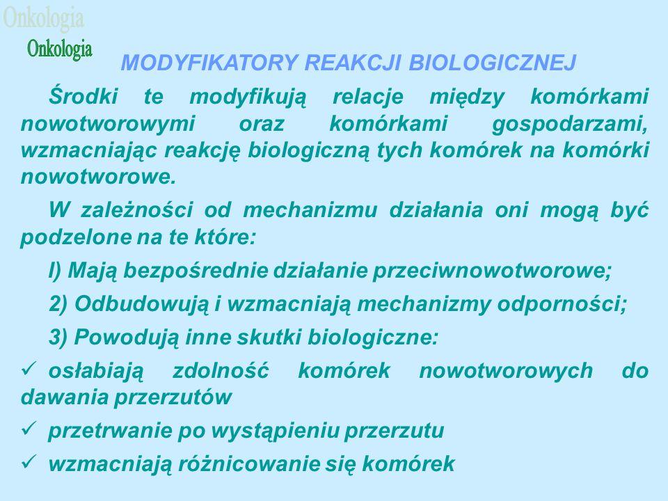 MODYFIKATORY REAKCJI BIOLOGICZNEJ