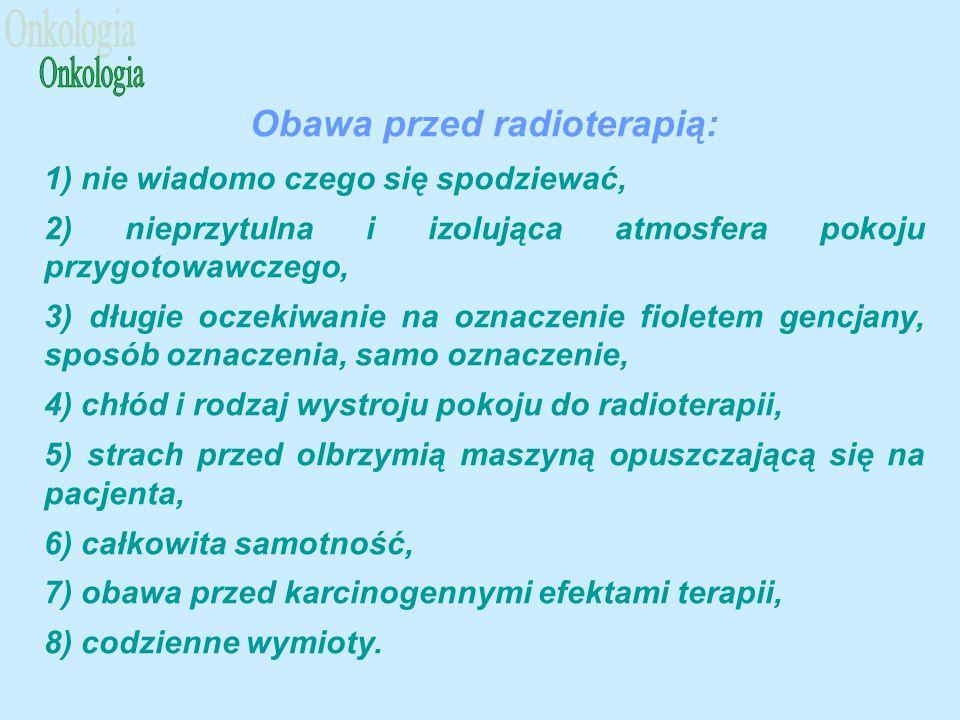 Obawa przed radioterapią: