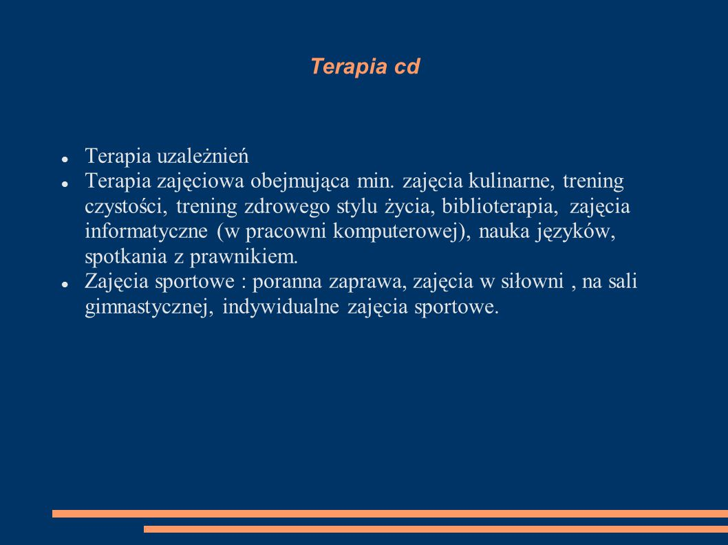 Terapia cd Terapia uzależnień.