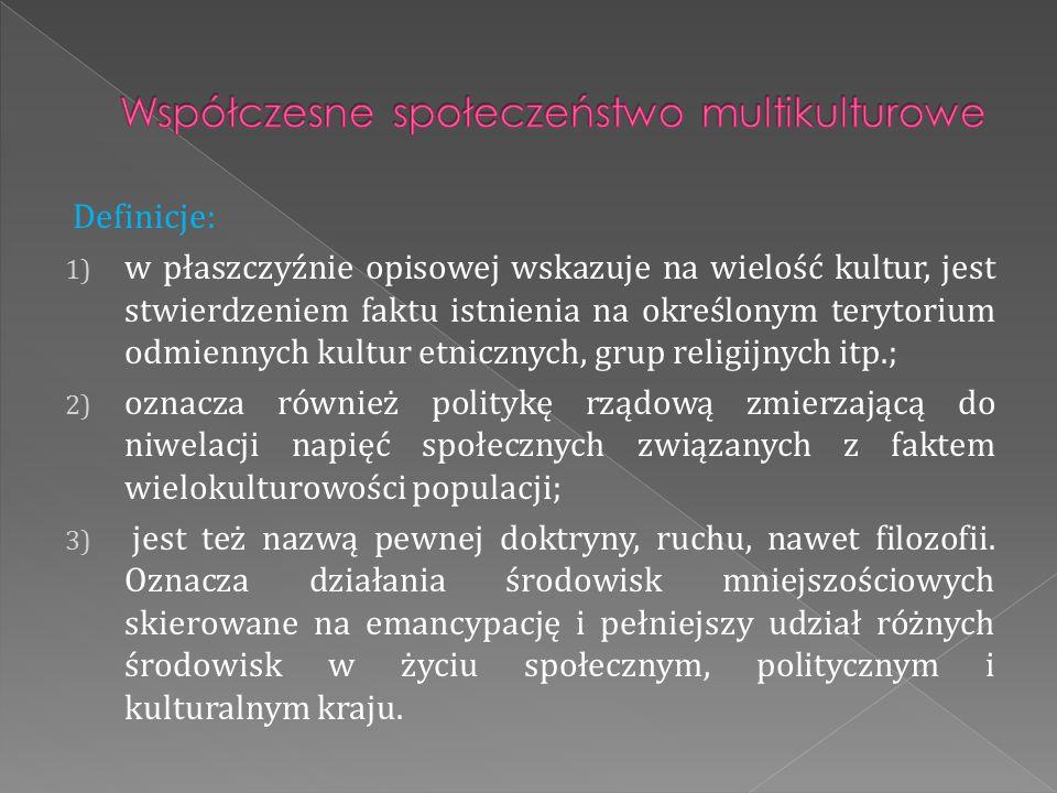 Współczesne społeczeństwo multikulturowe