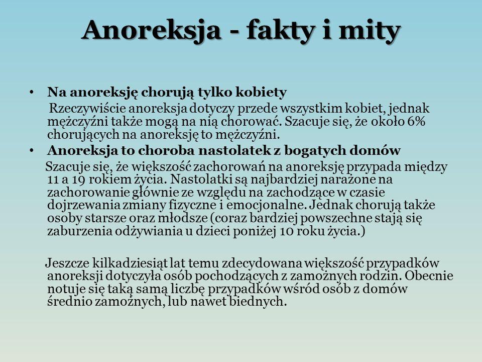 Anoreksja - fakty i mity