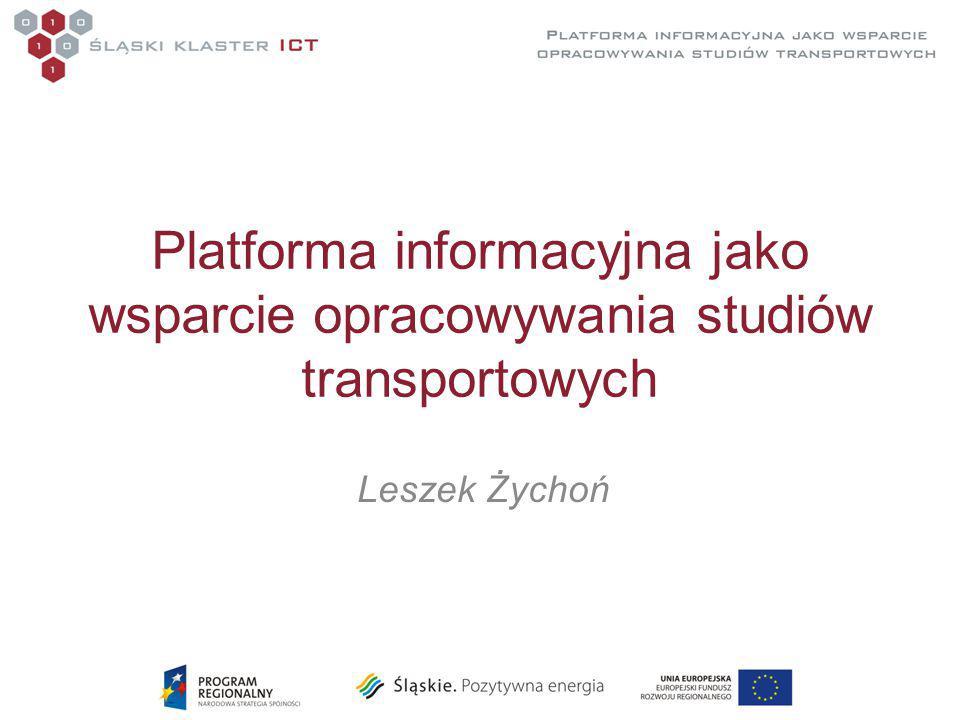 Platforma informacyjna jako wsparcie opracowywania studiów transportowych