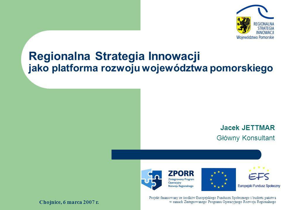 Regionalna Strategia Innowacji jako platforma rozwoju województwa pomorskiego