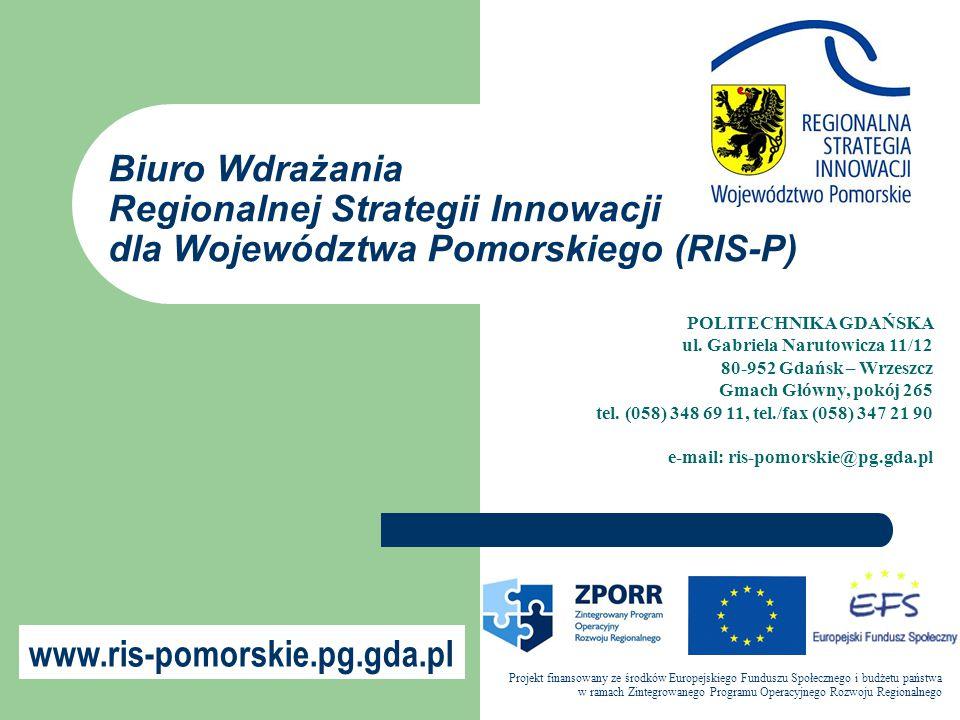 Biuro Wdrażania Regionalnej Strategii Innowacji dla Województwa Pomorskiego (RIS-P)
