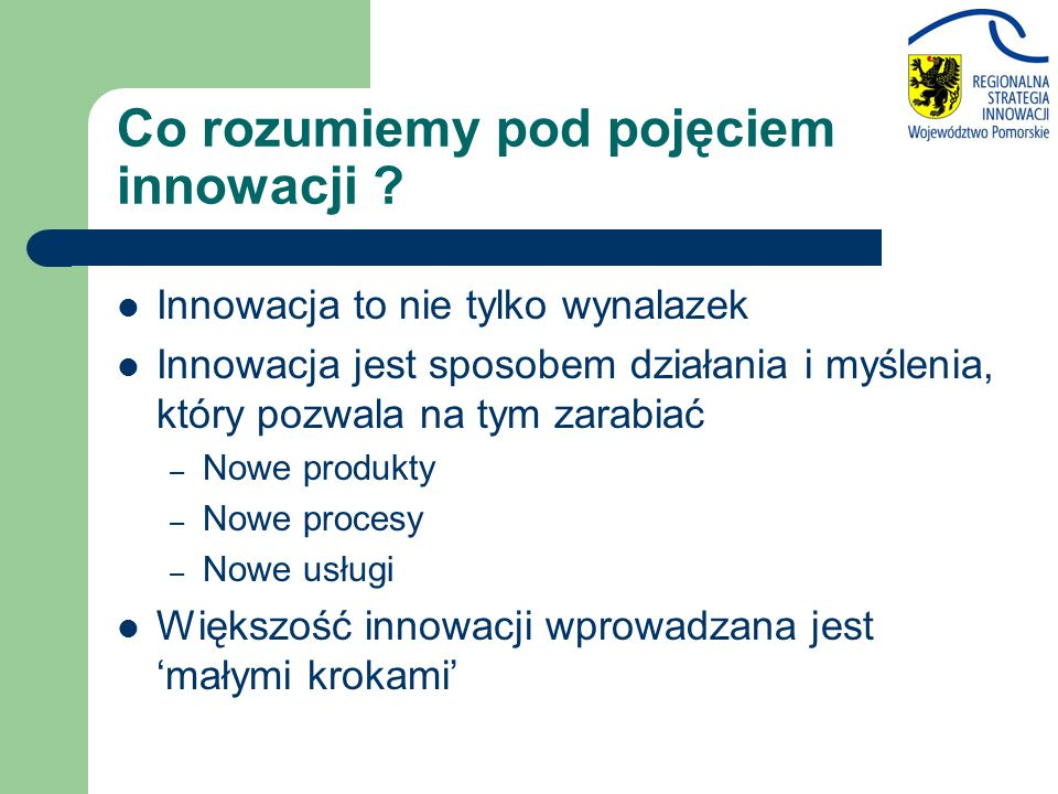 Co rozumiemy pod pojęciem innowacji