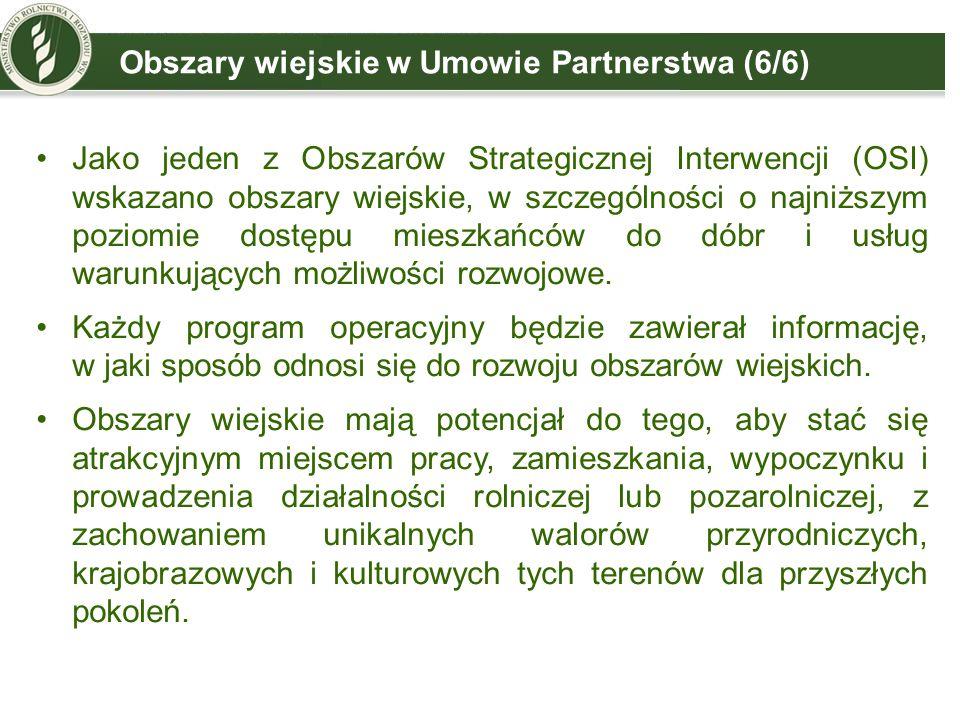 Obszary wiejskie w Umowie Partnerstwa (6/6)