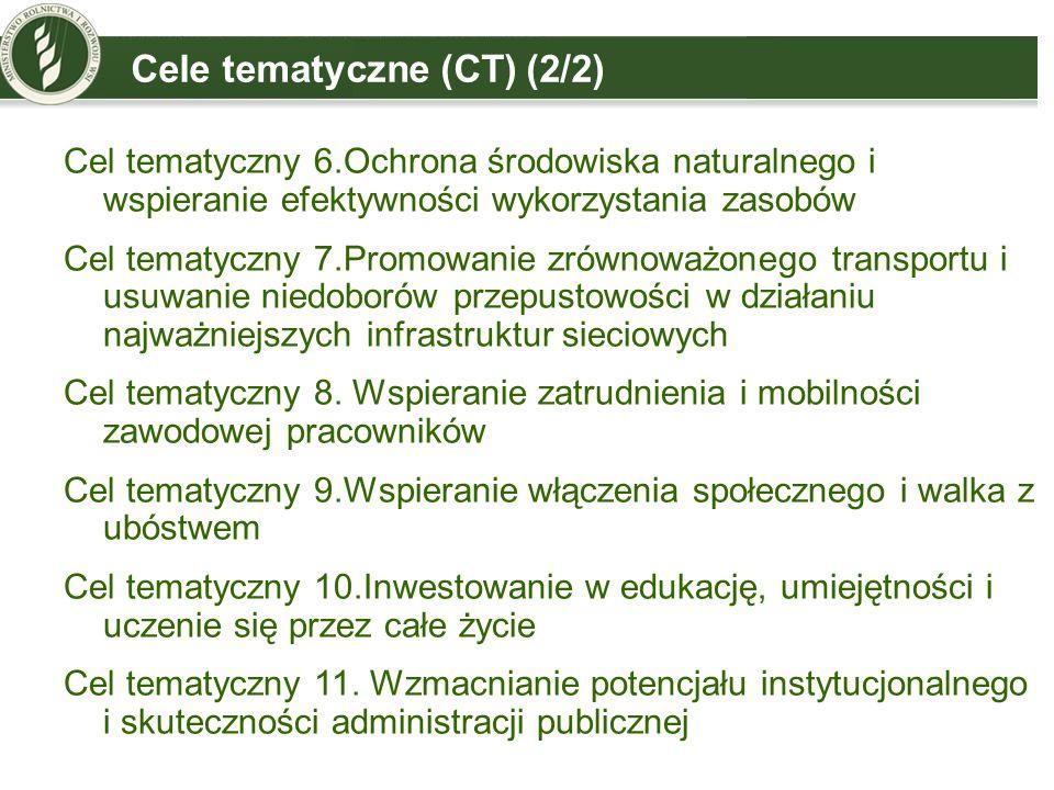 Cele tematyczne (CT) (2/2)