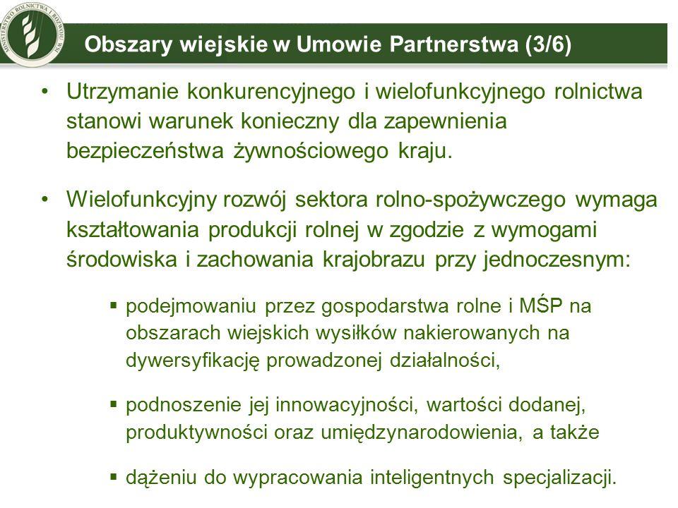 Obszary wiejskie w Umowie Partnerstwa (3/6)