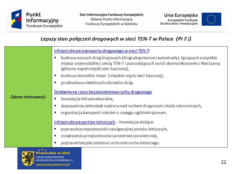 Lepszy stan połączeń drogowych w sieci TEN-T w Polsce (PI 7.i)