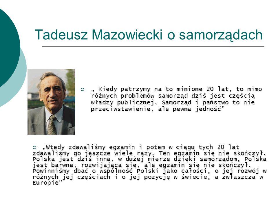Tadeusz Mazowiecki o samorządach
