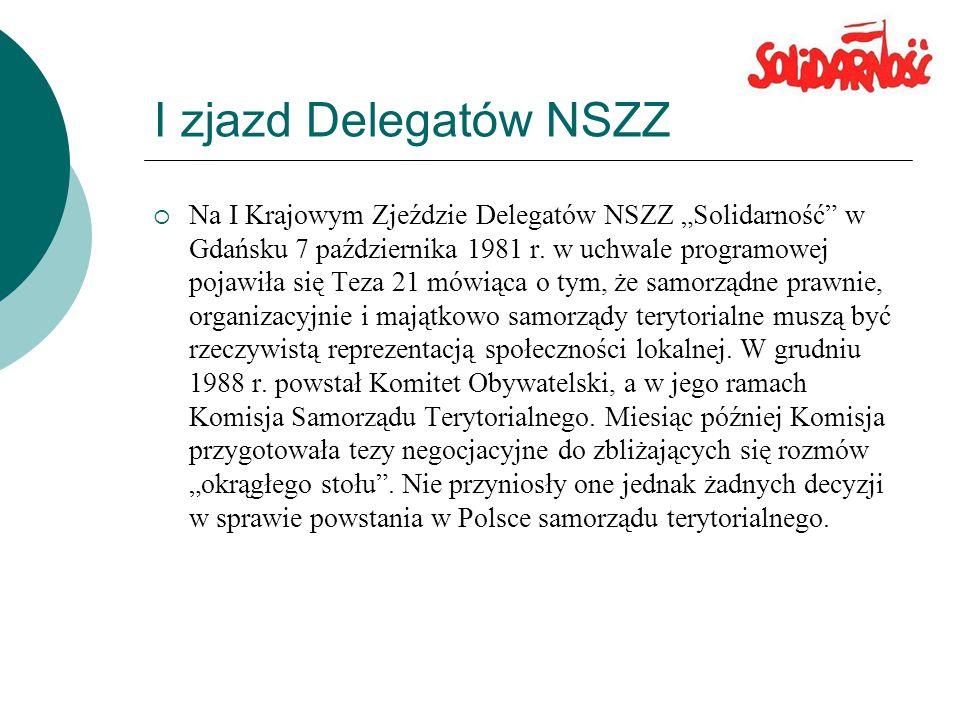 I zjazd Delegatów NSZZ