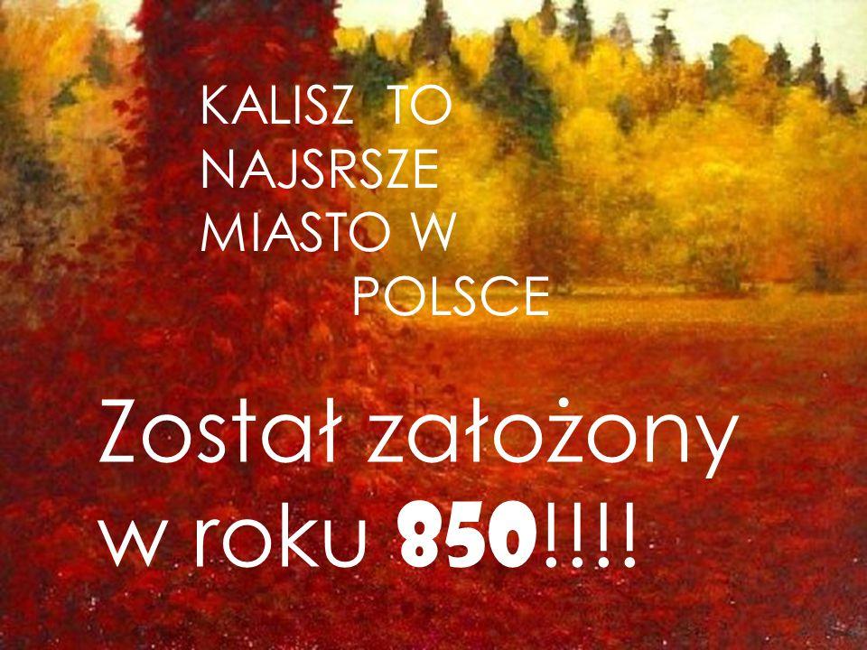 KALISZ TO NAJSRSZE MIASTO W POLSCE Został założony w roku 850!!!!