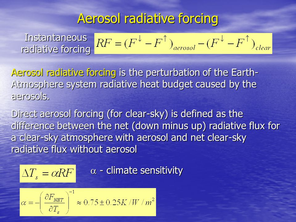 Aerosol radiative forcing