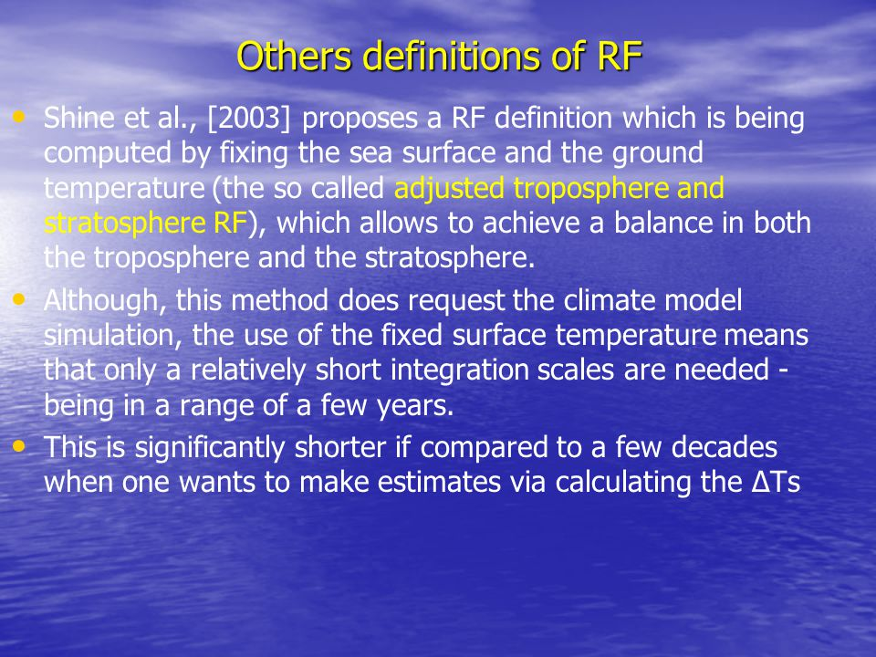 Others definitions of RF