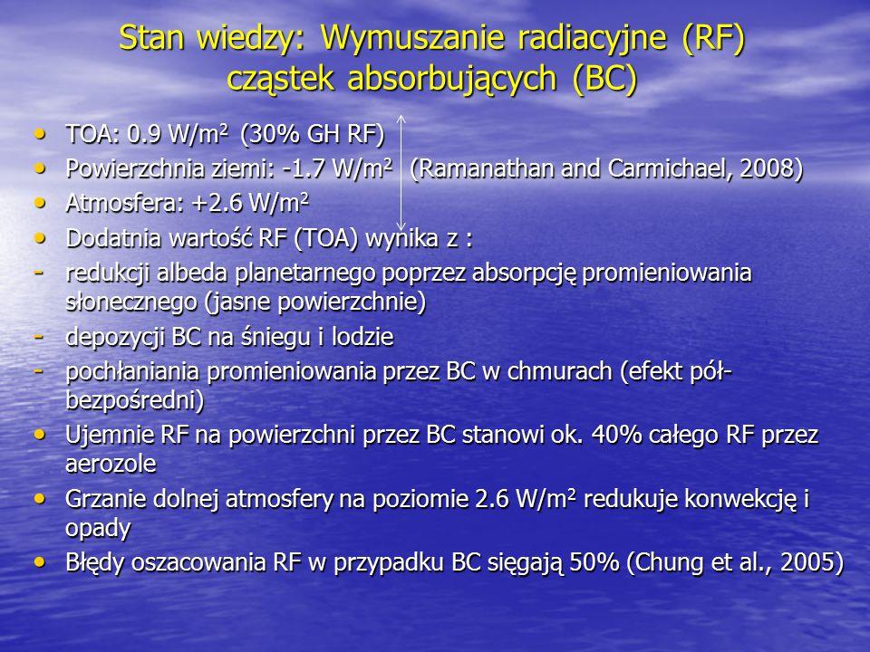 Stan wiedzy: Wymuszanie radiacyjne (RF) cząstek absorbujących (BC)