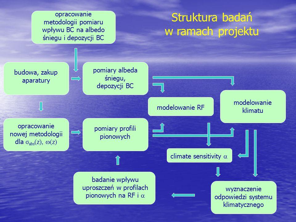 Struktura badań w ramach projektu opracowanie