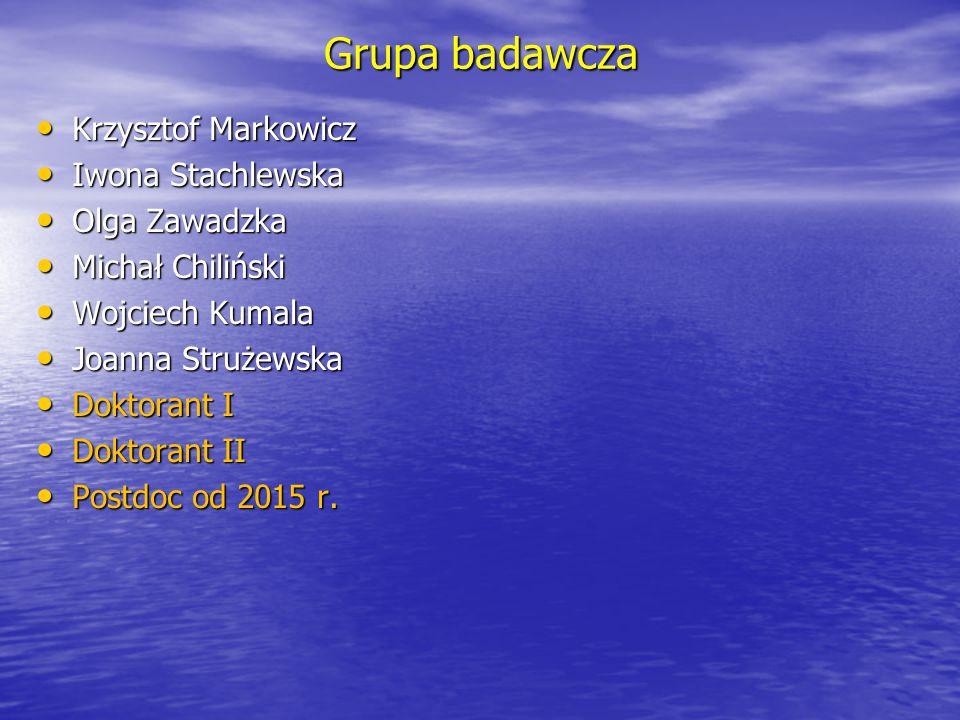 Grupa badawcza Krzysztof Markowicz Iwona Stachlewska Olga Zawadzka