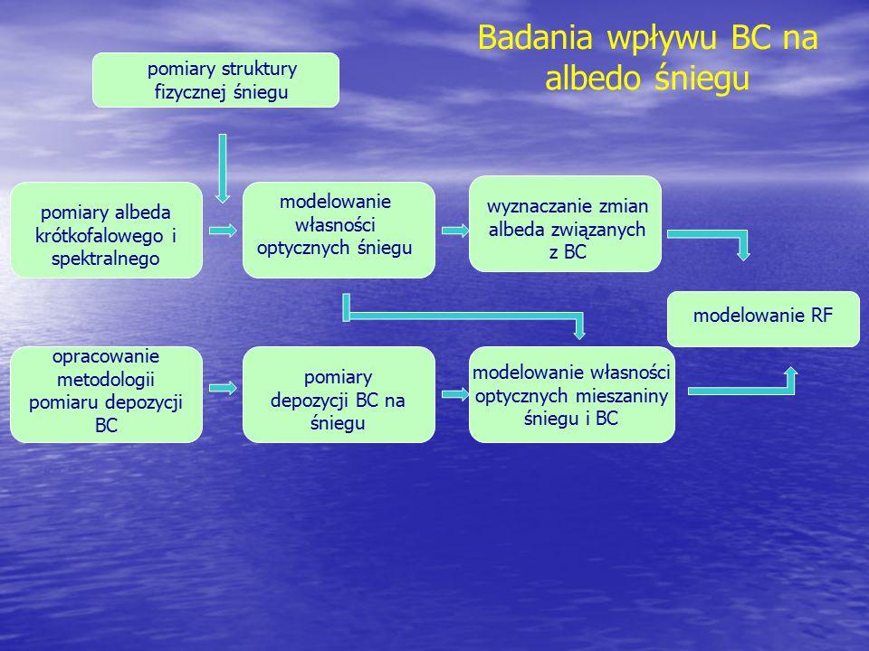 Badania wpływu BC na albedo śniegu