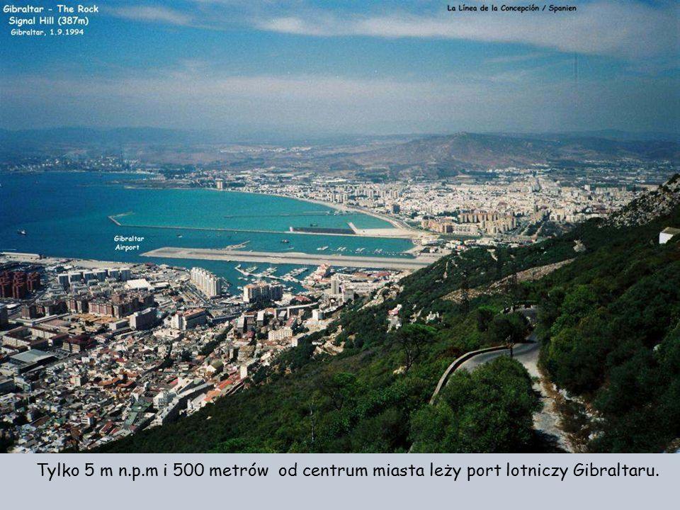 Tylko 5 m n.p.m i 500 metrów od centrum miasta leży port lotniczy Gibraltaru.