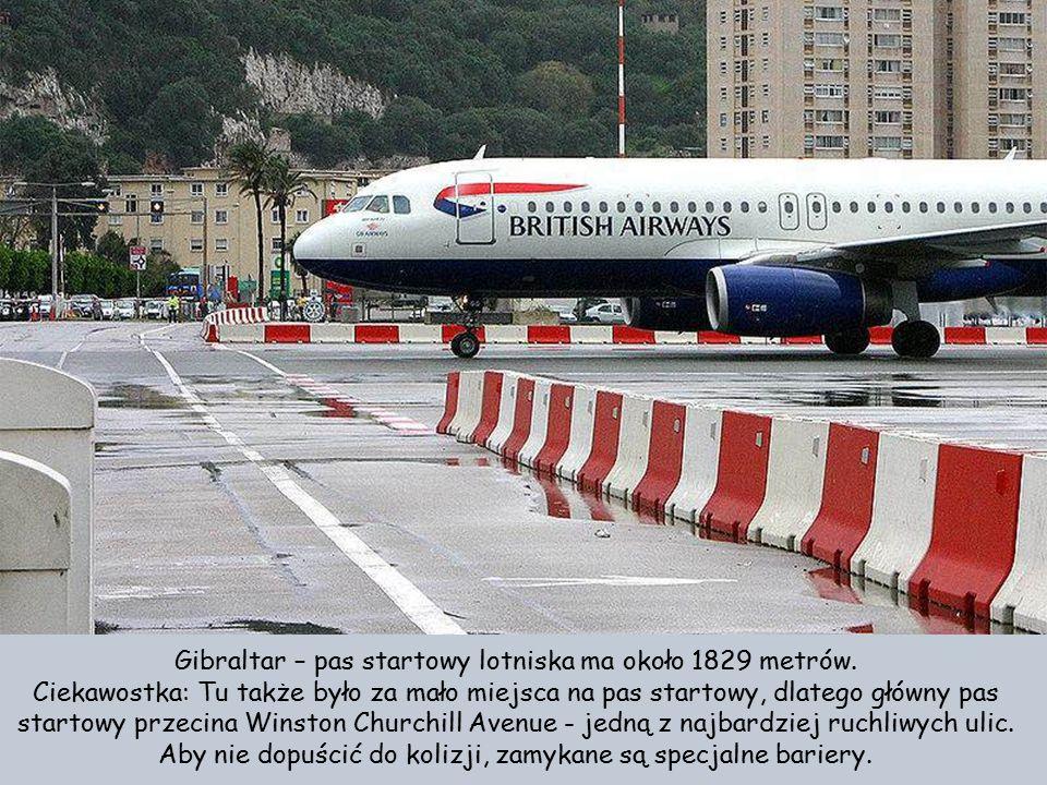 Gibraltar – pas startowy lotniska ma około 1829 metrów.