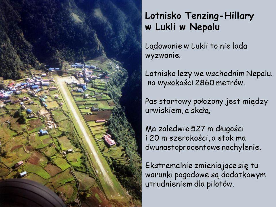 Lotnisko Tenzing-Hillary w Lukli w Nepalu