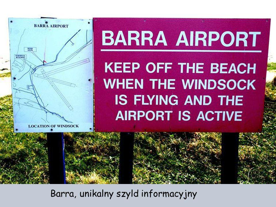 Barra, unikalny szyld informacyjny