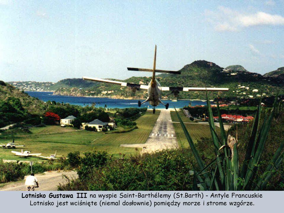 Lotnisko Gustawa III na wyspie Saint-Barthélemy (St