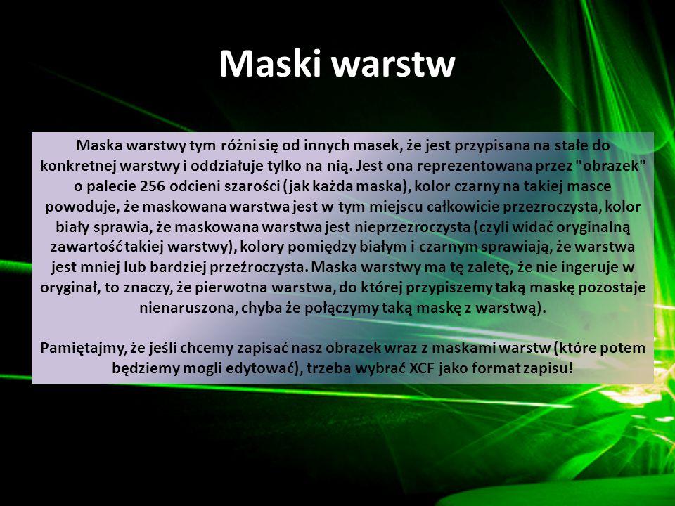 Maski warstw