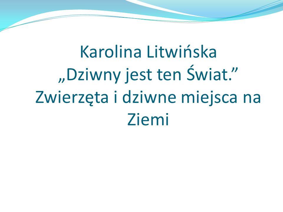 """Karolina Litwińska """"Dziwny jest ten Świat"""