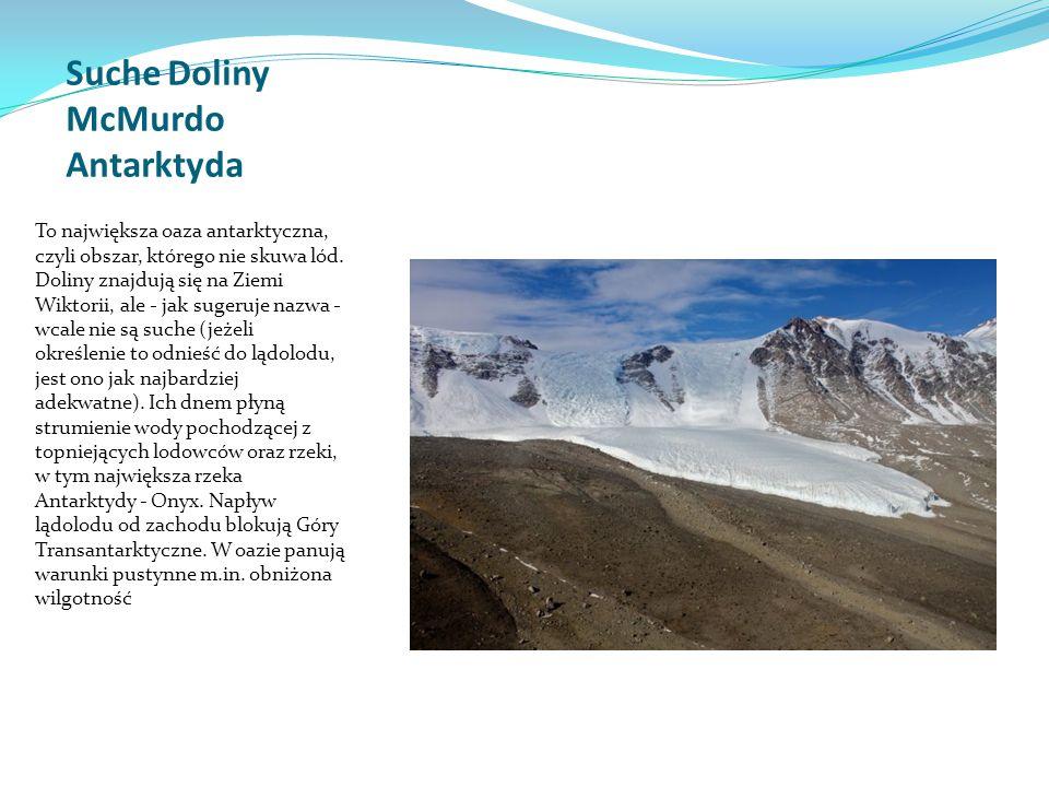 Suche Doliny McMurdo Antarktyda
