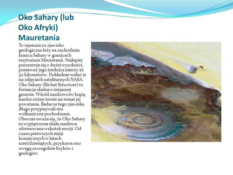 Oko Sahary (lub Oko Afryki) Mauretania
