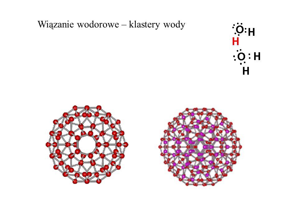 Wiązanie wodorowe – klastery wody