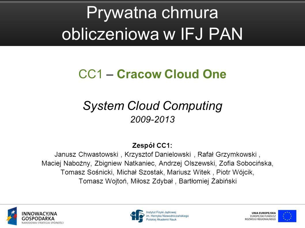 Prywatna chmura obliczeniowa w IFJ PAN