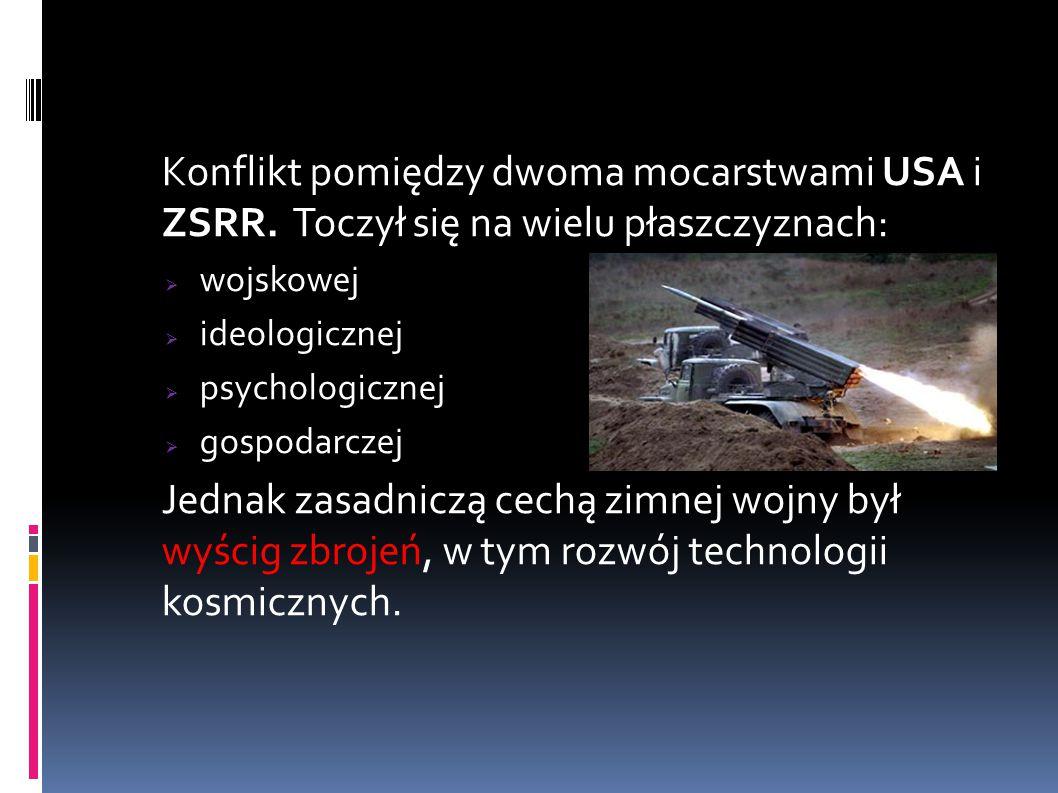 Konflikt pomiędzy dwoma mocarstwami USA i ZSRR