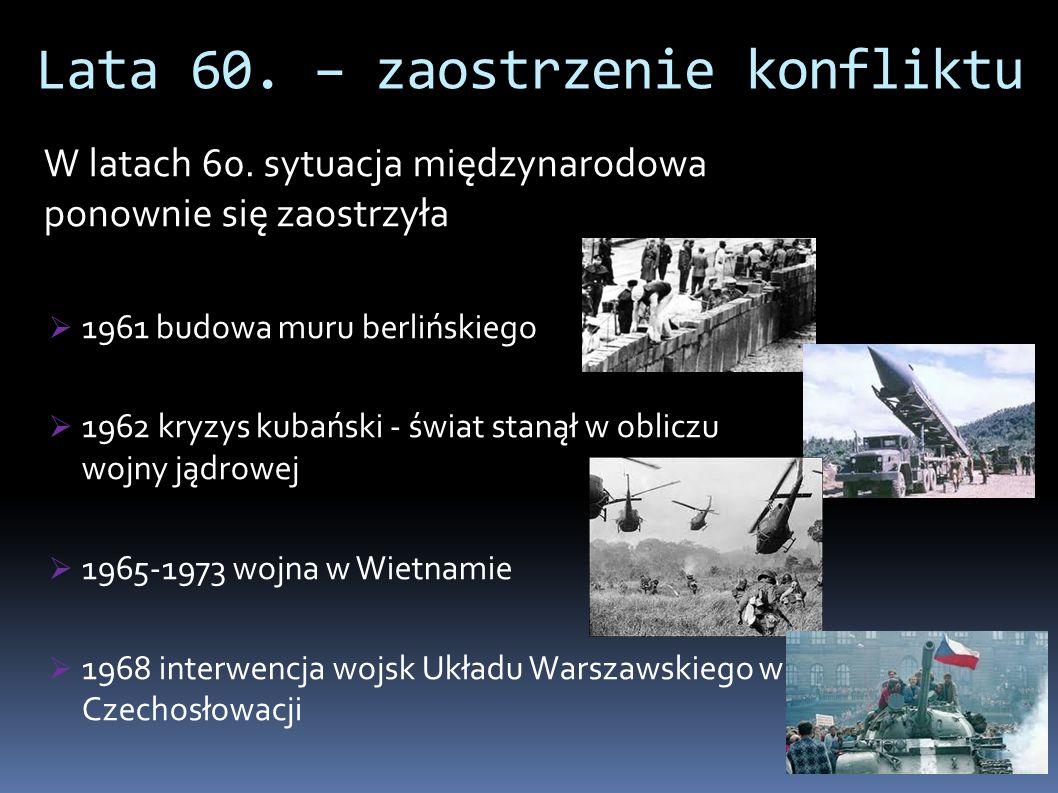 Lata 60. – zaostrzenie konfliktu